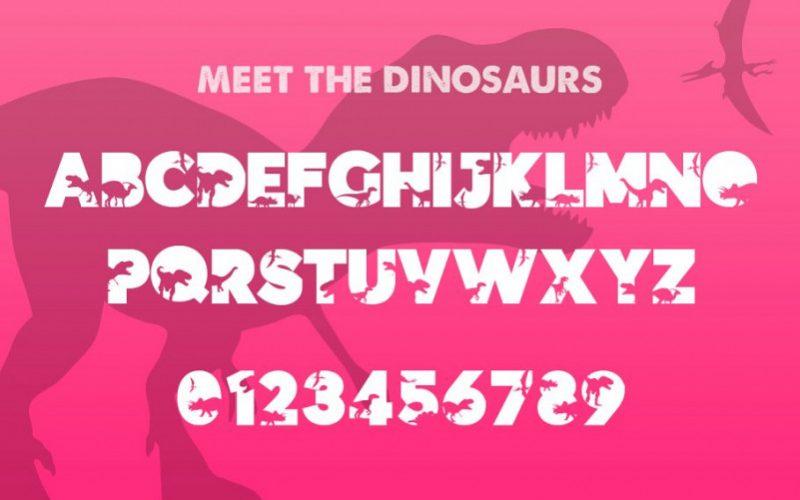 Dinosauce Free Font-3