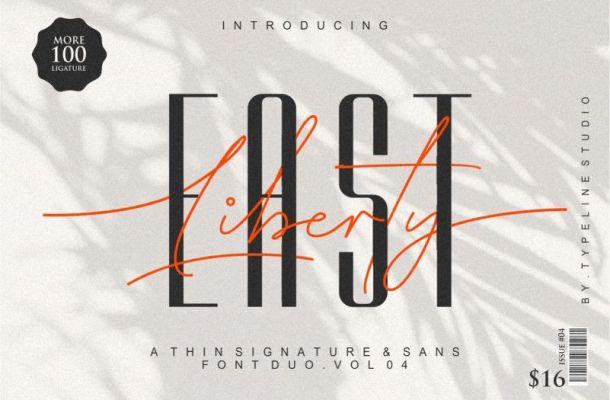 East Liberty Font Duo