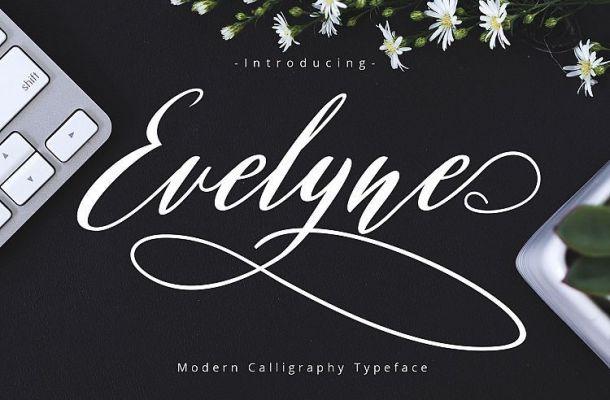 Evelyne Script Font