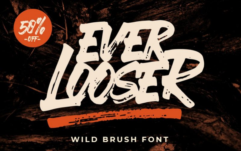Ever Looser Brush Font