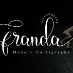Franda Calligraphy Font