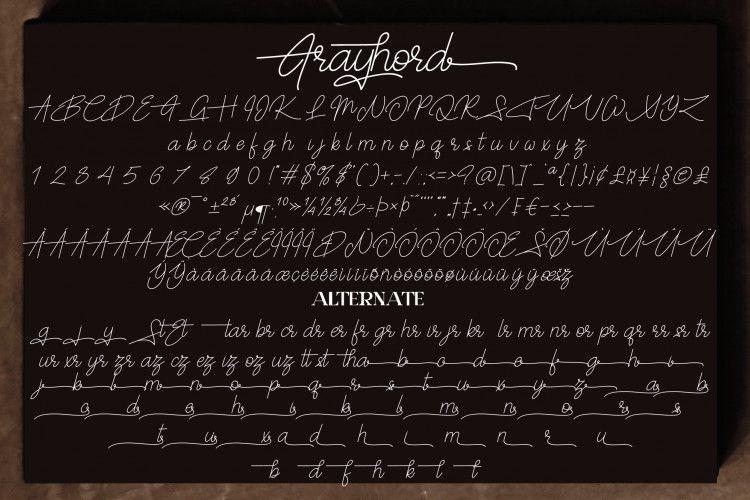 Frayhord Signature Font-3