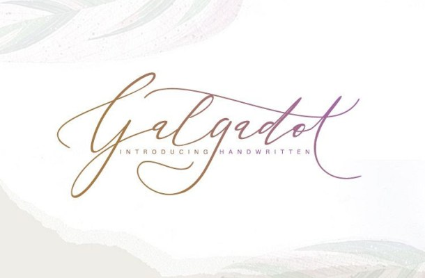 Galgadot Handwritten Font