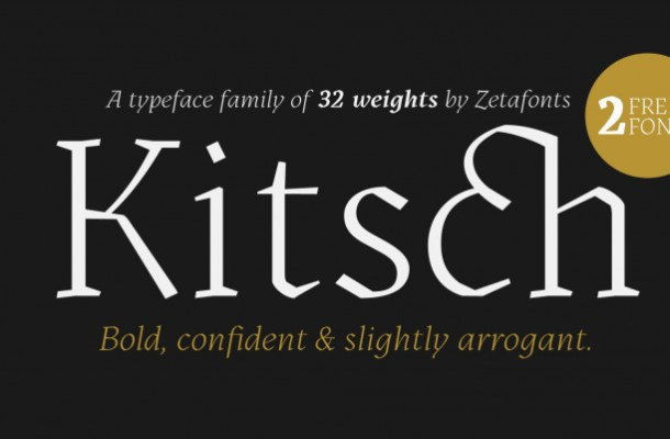 Kitsch Serif Font Family