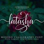 Latasha Calligraphy Font