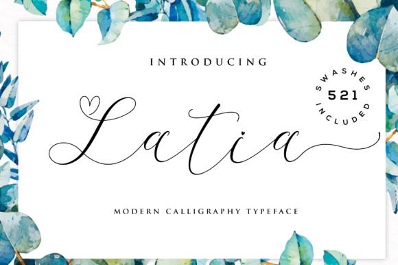 Latia Calligraphy Font