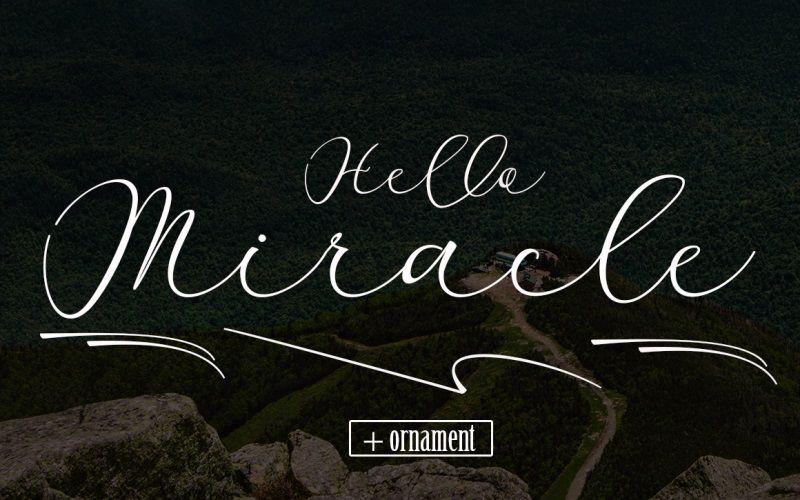 Miracle Script Font-2
