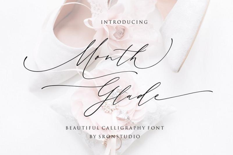 Month Glade Handwritten Font
