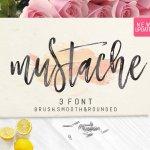Mustache Script Font