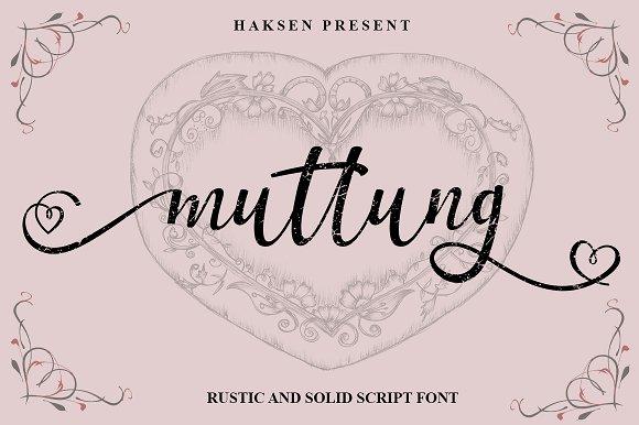 Muttung Script Font