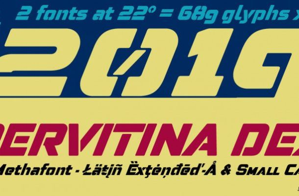 Pervitina Dex Typeface