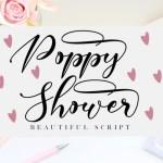 Poppy Shower Calligraphy Font