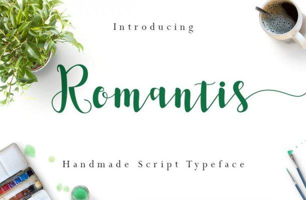 Romantis Script Font