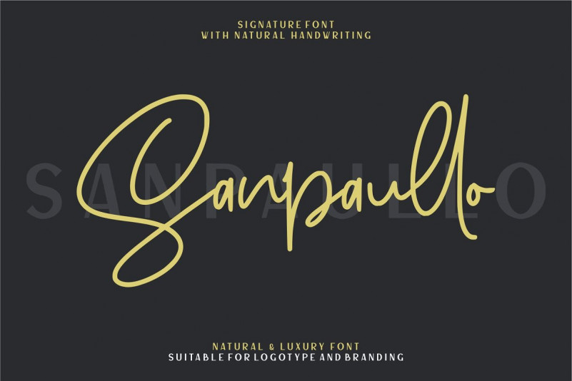 Sanpaullo Signature Font