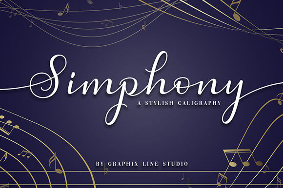 Simphony Calligraphy Font