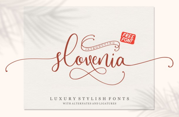 Slovenia Calligraphy Font