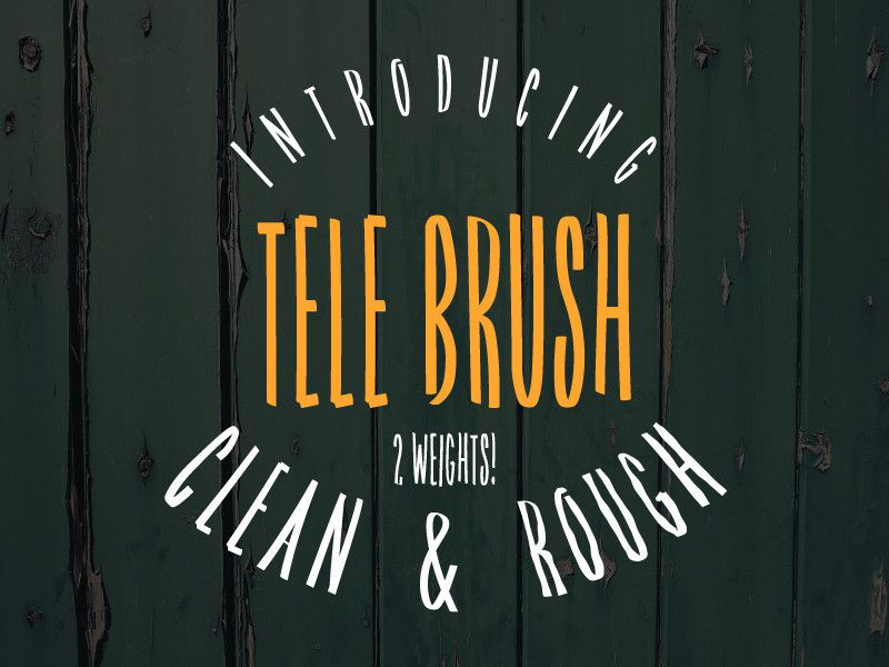 Tele Brush Typeface