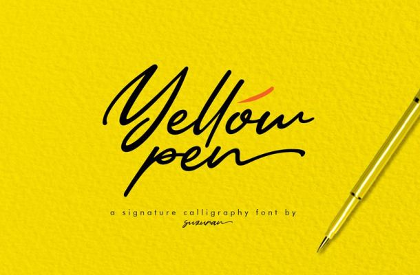 Yellow Pen Handwritten Font