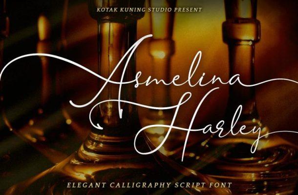 Asmelina Harley Script Font
