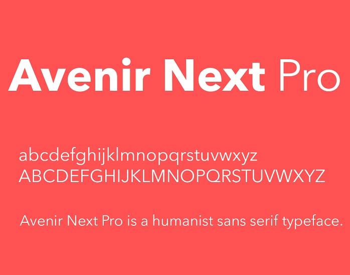 Avenir Next Font - Dafont Free