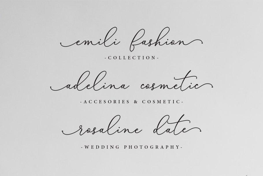 Bellisia Script Font-2