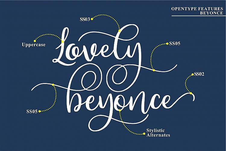 Beyonce Calligraphy Font-3