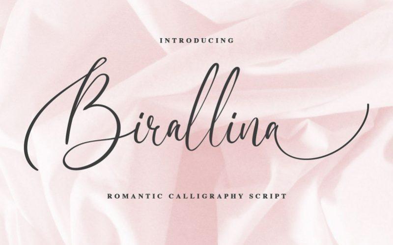Birallina Calligraphy Font