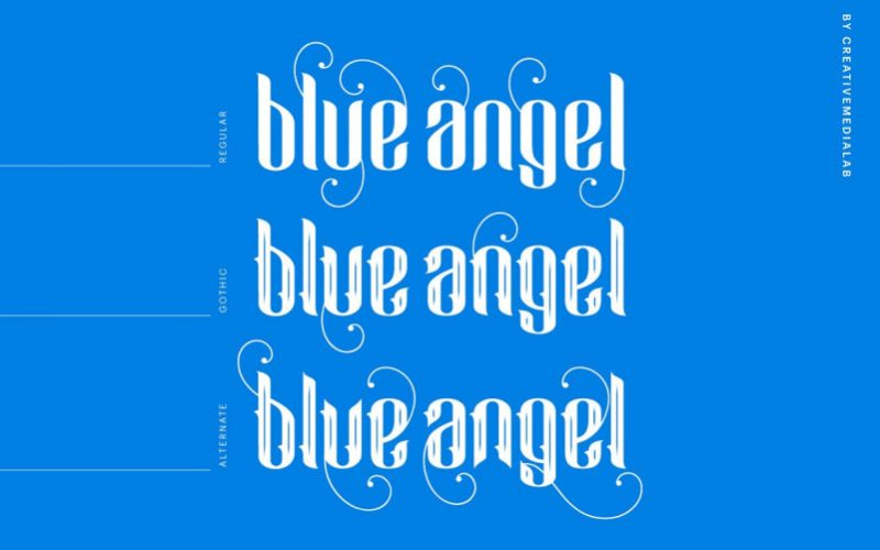Blue Angel Blackletter Font-2