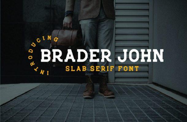 Braderjohn Slab Serif Font