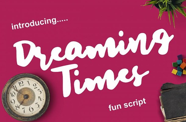 Dreaming Time Brush Font