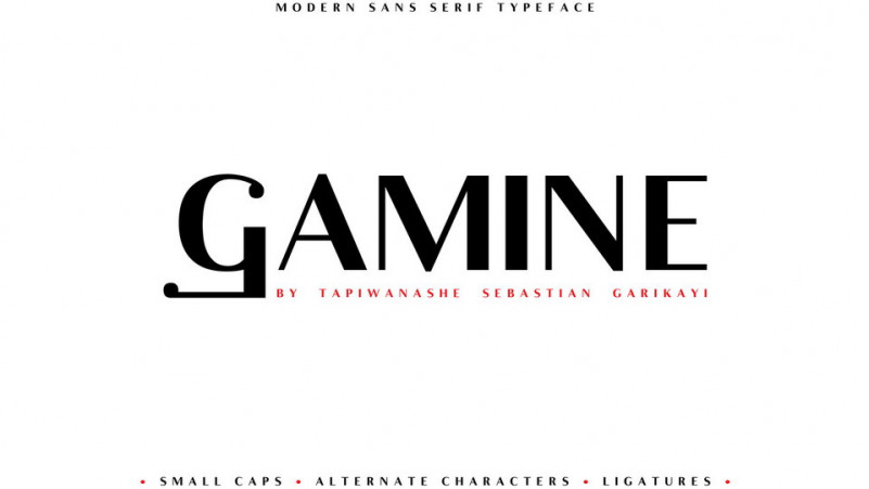 Gamine Typeface