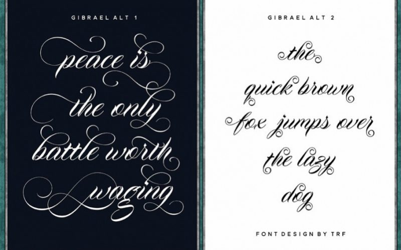 Gibrael Calligraphy Font-2