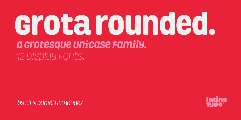 Grota Rounded Font Family