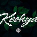 Keshya Brush Font