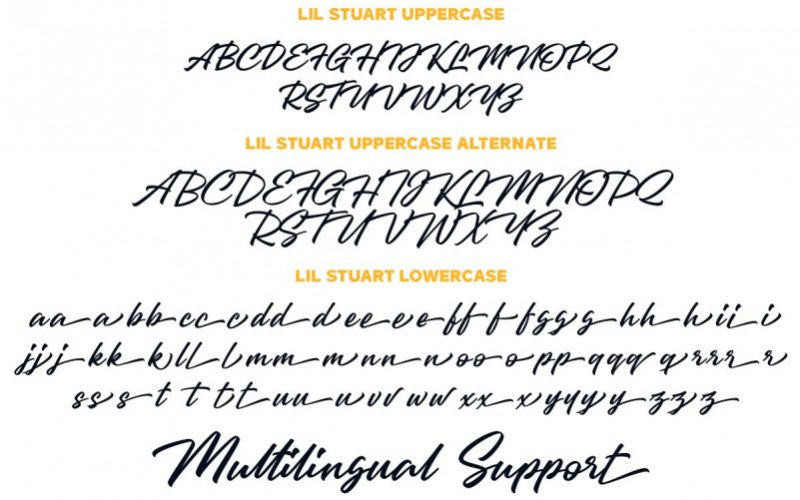 Lil Stuart Ligature Font-3
