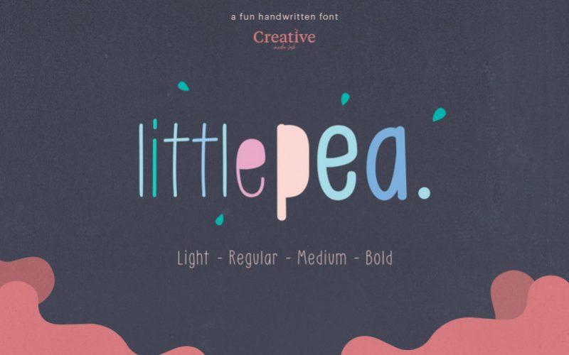 Little Pea Handwritten Font