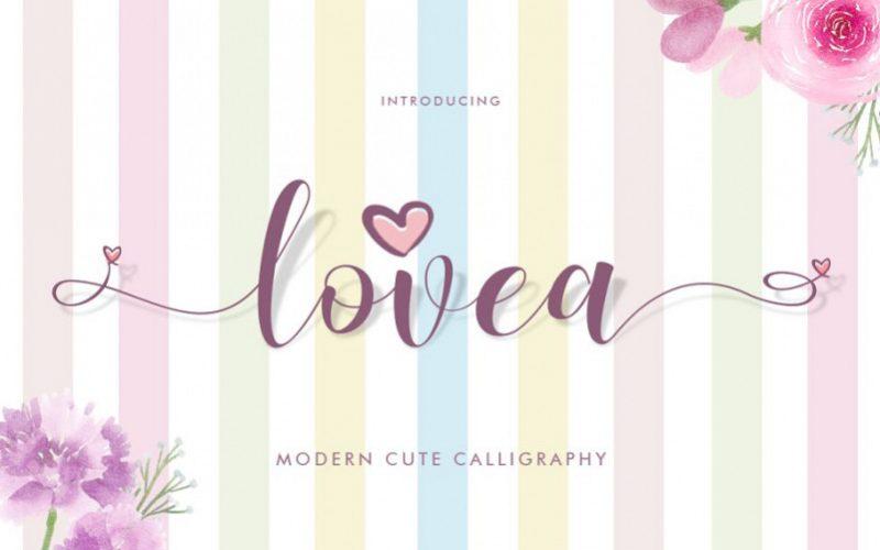 Lovea Calligraphy Font