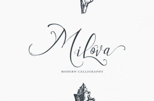 Milova Calligraphy Font