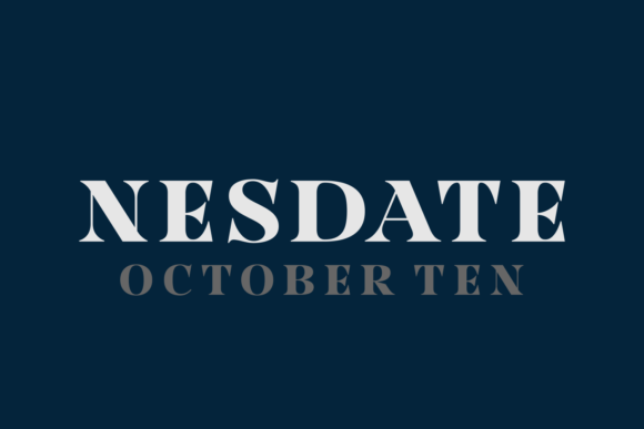 Nesdate October Ten Font