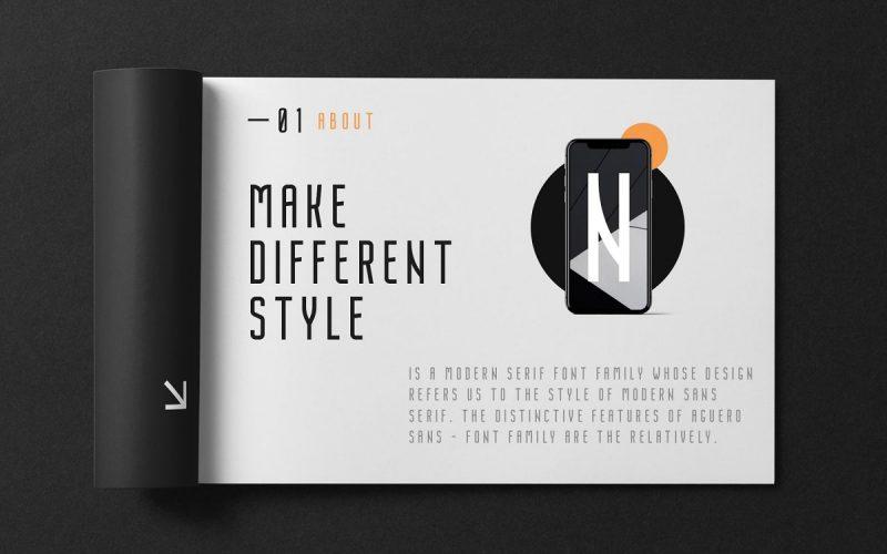 Nordin Condensed Sans Font-2