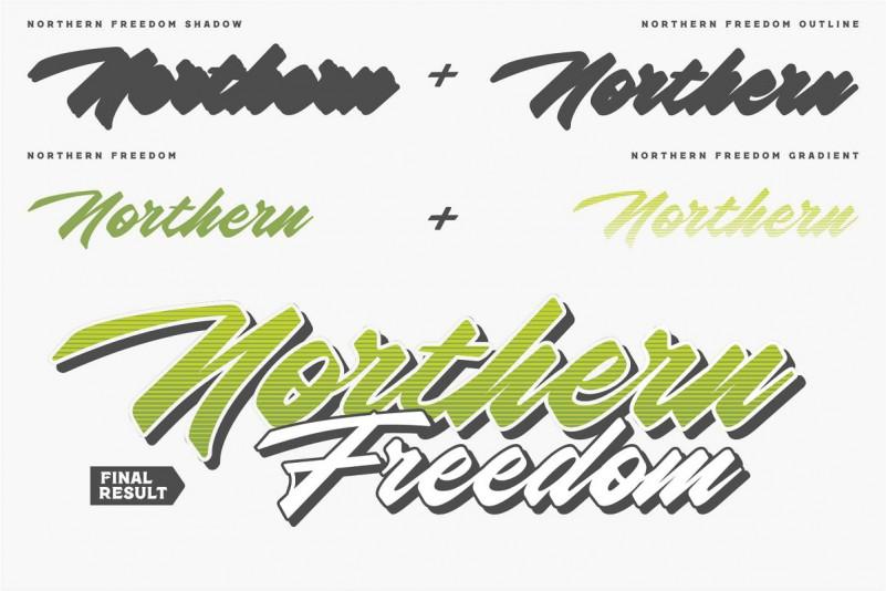 Northern Freedom Script Font-2