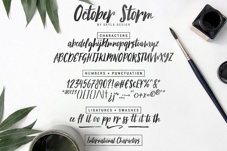 October Storm Brush Font-3