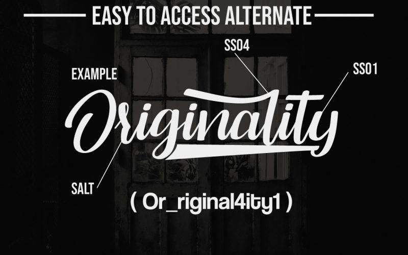 Originality Script Font-2