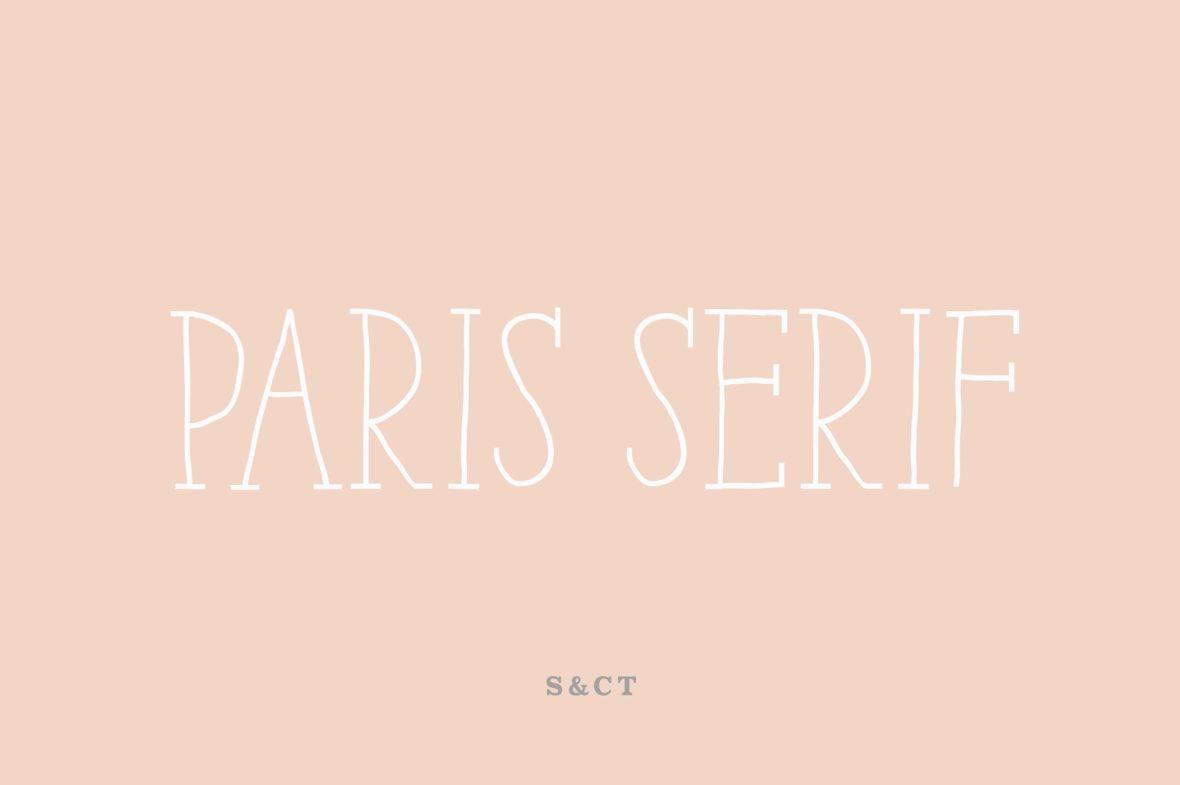 Paris Serif Font Family-1