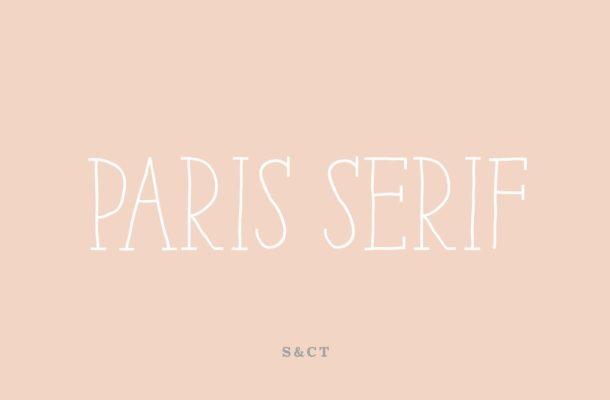 Paris Serif Font Family