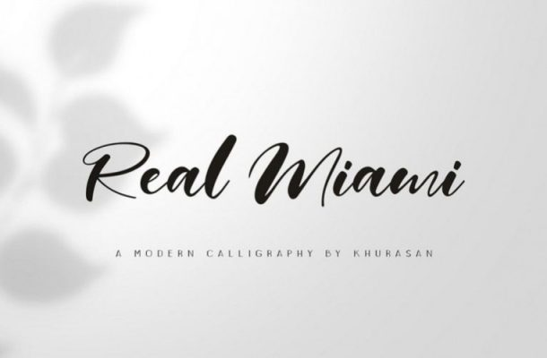 Real Miami Calligraphy Font