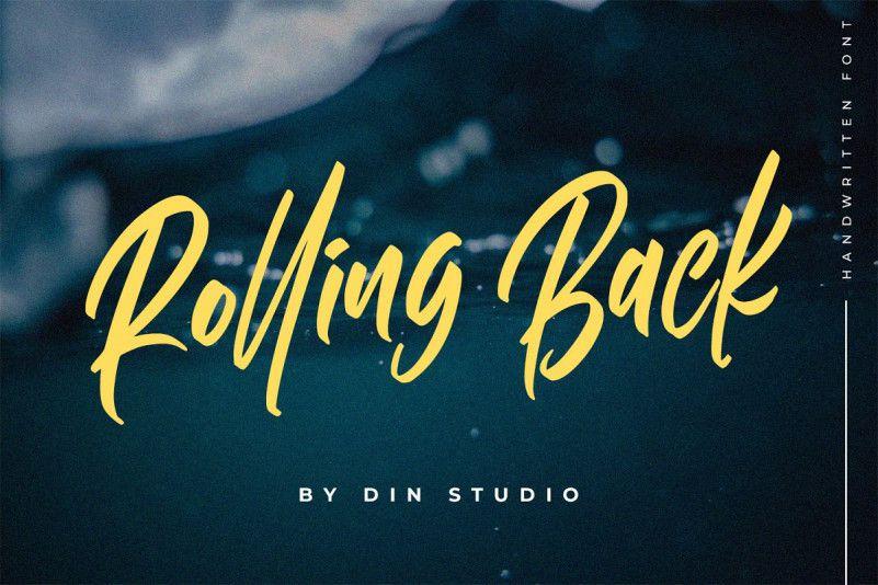 Rolling Back Script Font