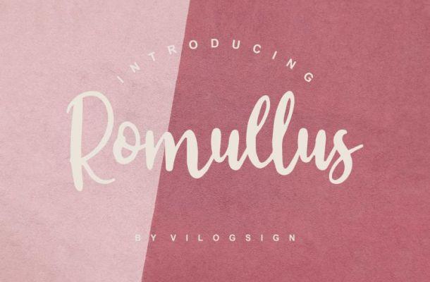 Romullus Playful Script Font