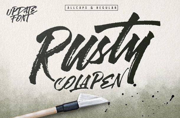 Rusty Cola Pen Font