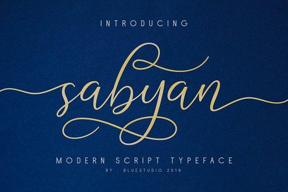 Sabyan Calligraphy Font